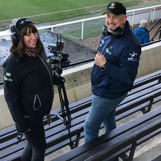 MMS-360 Aerial filming and Live streaming - Damian and Ali at Richmond Rugby